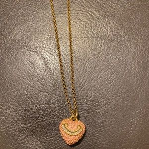 Juicy couture pink gold heart necklace